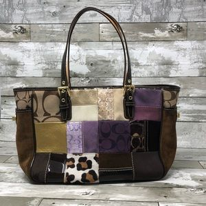 Authentic Coach Retired Patchwork Purse